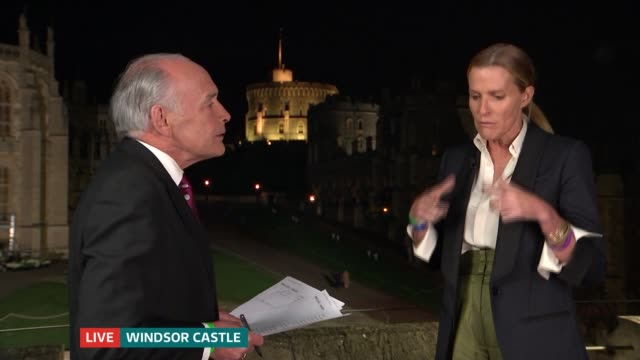 Royal wedding of Prince Harry and Meghan Markle India Hicks interview ENGLAND Berkshire Windsor India Hicks LIVE interview SOT