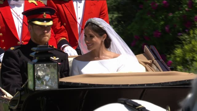 Royal wedding of Prince Harry and Meghan Markle ITV News Special 1225 1325 ENGLAND Berkshire Windsor Windsor Castle St George's Chapel EXT **Major...