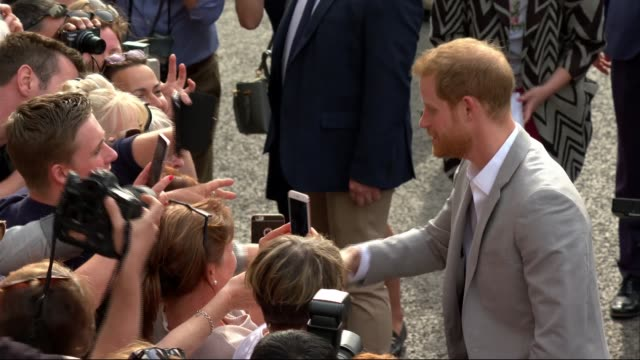 Royal wedding of Prince Harry and Meghan Markle William and Harry walkabout ENGLAND Berkshire Windsor EXT Prince Harry and Prince William Duke of...