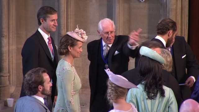 royal wedding of prince harry meghan markle: itv news special ceremonial feed: 1010 - 1110; england: berkshire: windsor: windsor castle: st george's... - guest stock videos & royalty-free footage