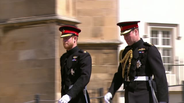 royal wedding of prince harry meghan markle: itv news special ceremonial feed: 1110 - 1210; england: berkshire: windsor: windsor castle: ext various... - prince stock videos & royalty-free footage