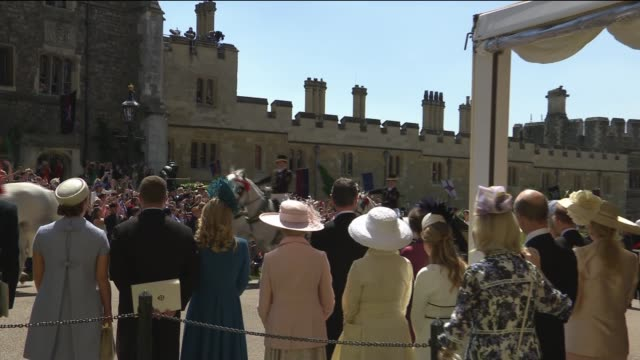 royal wedding of prince harry meghan markle itv news special ceremonial feed 1210 1310 england berkshire windsor windsor castle ext various of prince... - meghan duchess of sussex stock videos and b-roll footage