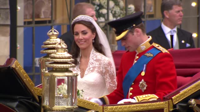 royal wedding of prince william and kate middleton: itv news special ceremonial feed: hd version 1200 - 1300; england: london: westminster:... - wave stock videos & royalty-free footage