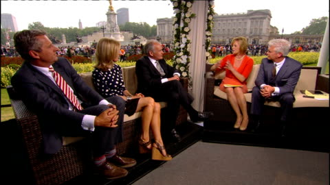 royal wedding of prince william and kate middleton: itv news special pab: 1530 - 1605; studio discussion with itn reporters mark austin, mary... - mary nightingale stock videos & royalty-free footage