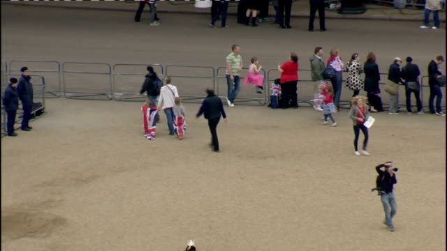 Royal wedding of Prince William and Kate Middleton ITV News Special Ceremonial Feed 0800 0900 High angle shot chandeliers trees lining red carpet...