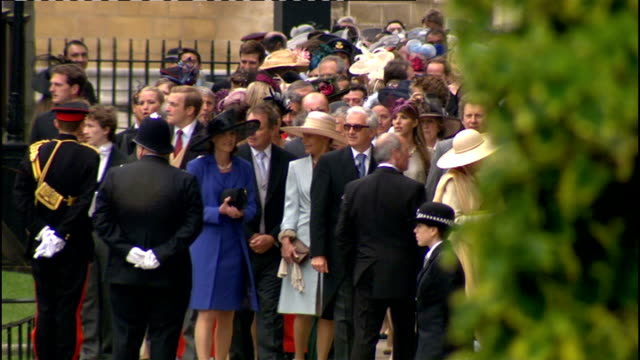 Royal wedding of Prince William and Kate Middleton ITV News Special Ceremonial Feed 0900 1000 Westminster Abbey INT Tom Bradby entering Abbey along...