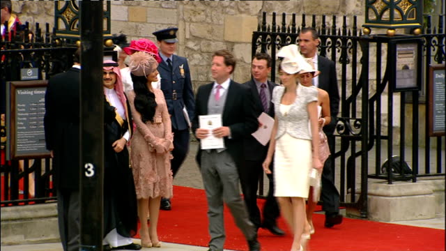 Royal wedding of Prince William and Kate Middleton ITV News Special PAB 1230 1330 ENGLAND London INT Queen Elizabeth and Prince Philip out of...