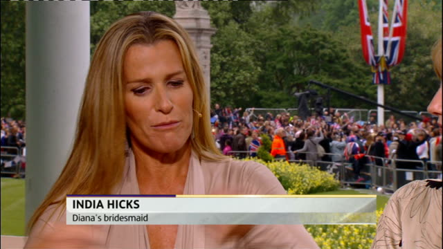 Royal wedding of Prince William and Kate Middleton ITV News Special PAB 0825 0930 India Hicks interview SOT