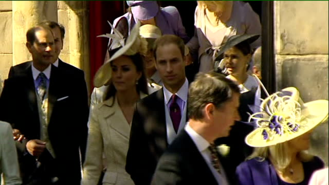 royal wedding of zara phillips to mike tindall departures from church members of the royal family leaving church including queen elizabeth ii prince... - queen royal person stock videos & royalty-free footage