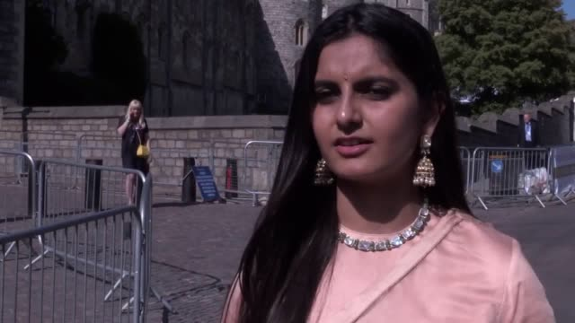 vídeos de stock e filmes b-roll de royal wedding reception guest and charity worker suhani jalota talks about witnessing people being 'moved to tears' during speeches by the prince of... - duke of sussex