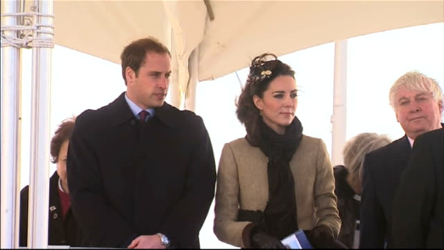 Speculation about the after party R24021102 WALES Anglesey Trearddur Bay Lifeboat Station Prince William and his fiancee Catherine Middleton at their...