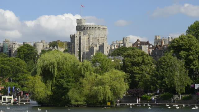 royal windsor castle - windsor castle stock videos & royalty-free footage
