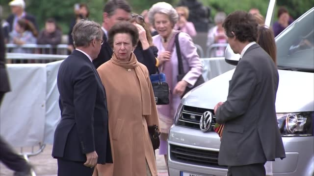 royals at chelsea flower show 2016 queen elizabeth ii along with others / princess michael of kent prince michael of kent princess alexandra and... - princess michael of kent stock videos and b-roll footage