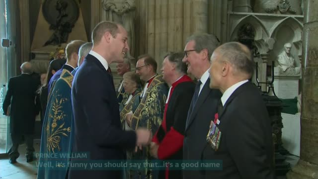 royals attend anzac day service at westminster abbey england london westminster westminster abbey screen*** prince william chatting with alexnader... - anzac day stock videos & royalty-free footage