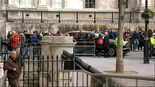 royals look for new chauffeur 1922014 ext royal car convoy stuck in traffic en route to canada house - canada house stock videos and b-roll footage