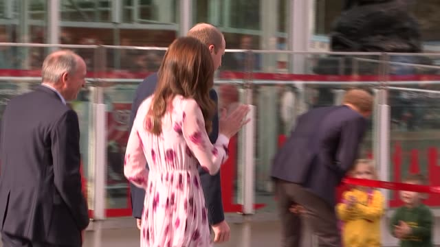 Royals ride on London Eye and host reception as part of Heads Together campaign Various shots Prince William and Catherine along and talking to...