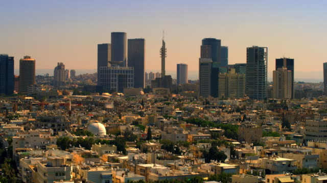 royalty free stock video footage of a tel aviv cityscape shot in israel at 4k with red. - tel aviv stock-videos und b-roll-filmmaterial