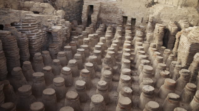 royalty free stock video footage of beit she'an bathhouse ruins shot in israel at 4k with red. - old ruin stock videos and b-roll footage