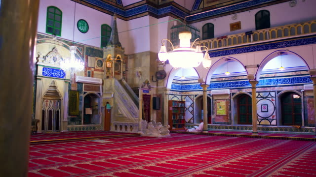 royalty free stock video footage of jezzar pasha mosque shot in israel at 4k with red. - akko stock videos and b-roll footage