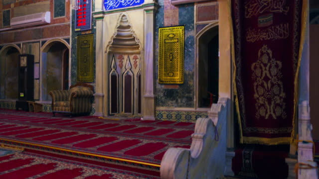 royalty free stock video footage of mosque interior front wall shot in israel at 4k with red. - akko stock videos and b-roll footage