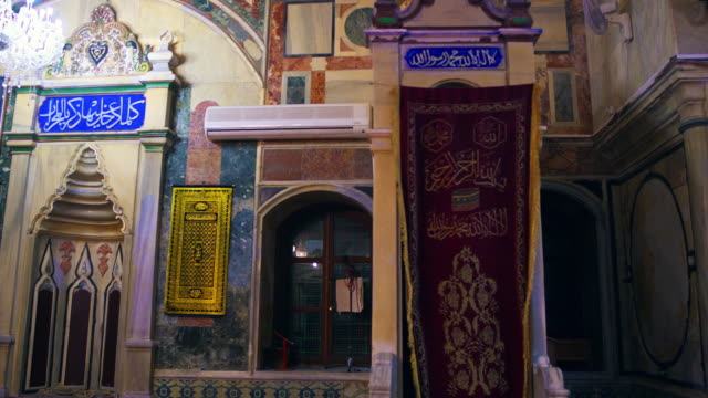 royalty free stock video footage of mosque minbar shot in israel at 4k with red. - akko stock videos and b-roll footage