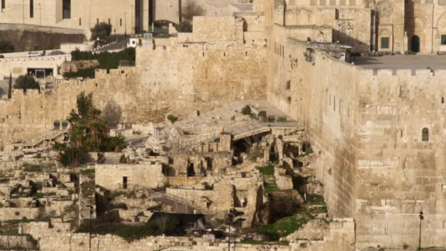 royalty free stock video footage of south steps at jerusalem walls filmed in israel at 4k with red. - east jerusalem stock videos & royalty-free footage