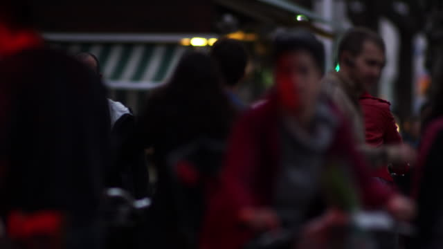 Royalty Free Stock Video Footage of Tel Aviv pedestrian traffic shot in Israel at 4k with Red.