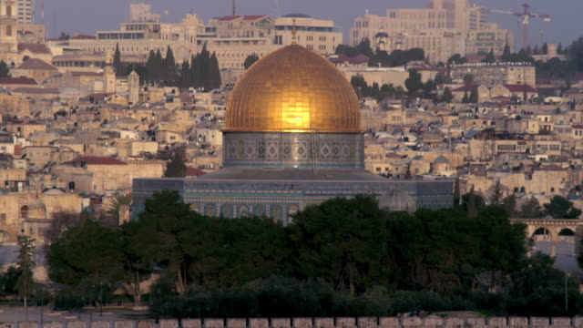Royalty Free Stock Video Footage of the Dome Of The Rock filmed in Israel at 4k with Red.