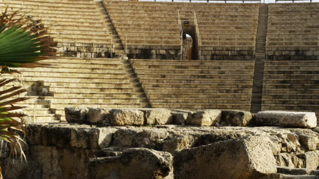 royalty free stock video footage of theater at caesarea shot in israel at 4k with red. - caesarea stock videos & royalty-free footage