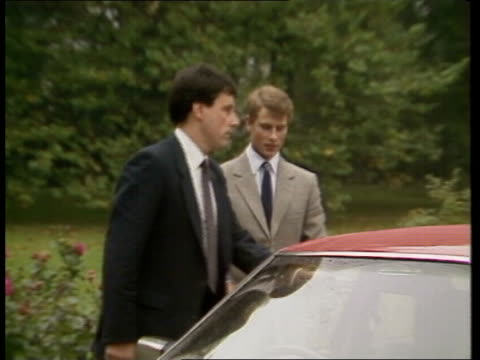 prince edward starts cambridge england cambridge jesus college ms prince edward out of car and greeted by master of the college sir alan cotterell... - porter stock videos & royalty-free footage