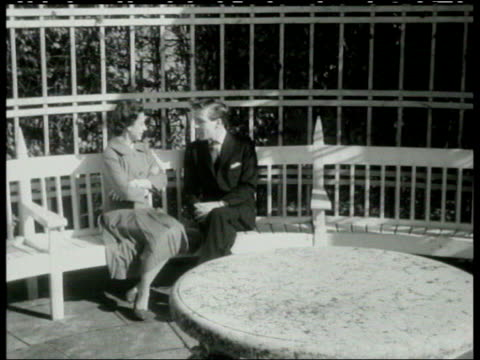 stockvideo's en b-roll-footage met princess margaret obituary lib berkshire windsor b/w princess margaret and antony armstrongjones sitting and talking for photocall after the... - prinses margaret windsor gravin van snowdon