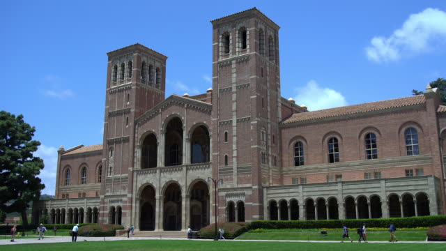 royce hall - westwood neighborhood los angeles stock videos & royalty-free footage