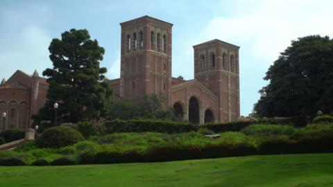 ucla royce hall - westwood neighborhood los angeles stock videos & royalty-free footage