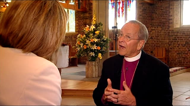 rt rev gene robinson interview sot saying he is not here to talk about homosexuality but that kind of god how many people who when hear someone stand... - anglican stock videos & royalty-free footage