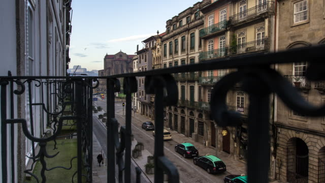 Rua do Infante Dom Henrique in the Morning - Motion Timelapse.