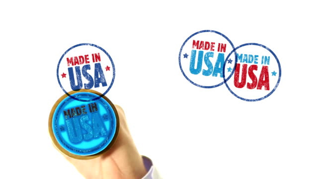 made in usa rubber stamped fills the whole screen - made in the usa kort fras bildbanksvideor och videomaterial från bakom kulisserna