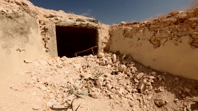 rubble of hospitals destroyed by the syrian government in the rebel held area of idlib in north west syria - middle east stock videos & royalty-free footage