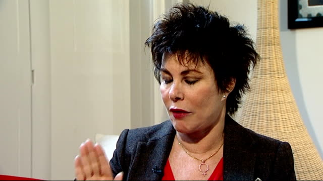 ruby wax interview on mental illness; ruby wax interview continued sot - on how to treat depression, there is medication - she would rather not have... - herpes video stock e b–roll