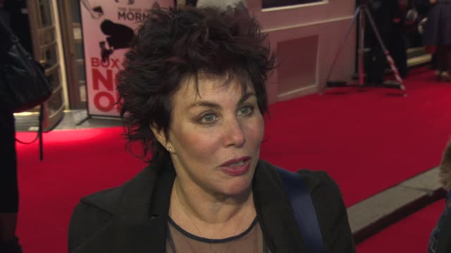 interview ruby wax on what makes people laugh at the book of mormon london opening night on the 21st of march 2013 contains strong language - ruby wax stock-videos und b-roll-filmmaterial