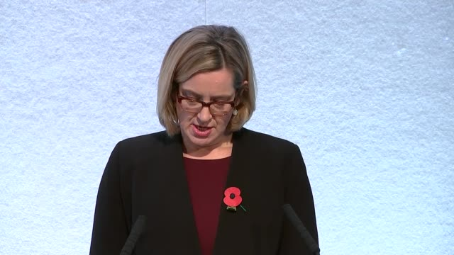 rudd speech to npcc/apcc partnership summit england london int amber rudd mp to platform and to podium amber rudd mp speech sot re expresses... - comforting colleague stock videos & royalty-free footage