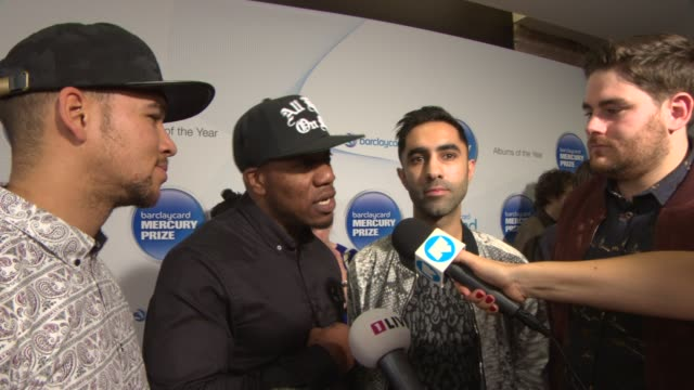 rudimental on being nominated, who they would like to win at mercury music prize at the roundhouse on october 30, 2013 in london, england. - mercury music prize stock-videos und b-roll-filmmaterial