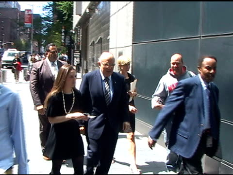 rudolph 'rudy' giuliani outside the time warner center on 5/9/2011 - time warner center stock videos & royalty-free footage