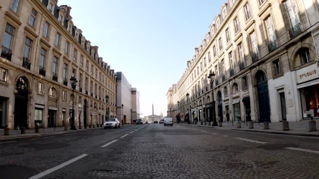 rue royale empty street during lockdown - boulevard stock videos & royalty-free footage