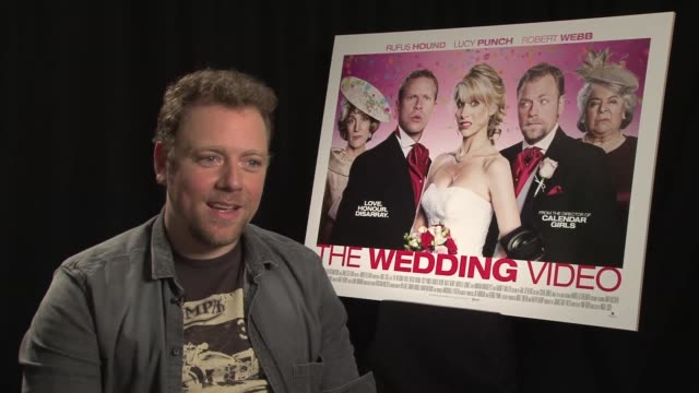 Rufus Hound on not being able to critique the film at The Wedding Video Interview on August 9 2012 in London England