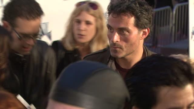 rufus sewell at the 'anvil the story of anvil' premiere at los angeles ca - anvil the story of anvil stock videos and b-roll footage