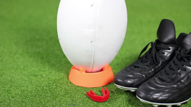 Rugby Ball and boots - HD & PAL