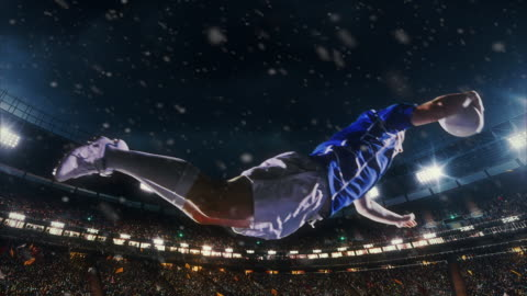 ラグビー選手はボールをジャンプします。 - スポーツ ラグビー点の映像素材/bロール