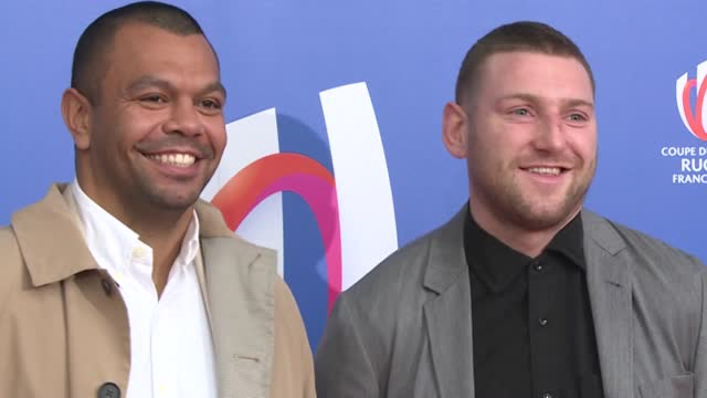 rugby players kurtley beale and finn russell, french ballet dancer alice renavand and environmentalist yann arthus-bertrand arrive for the 2023 rugby... - le bourse quarter stock videos & royalty-free footage