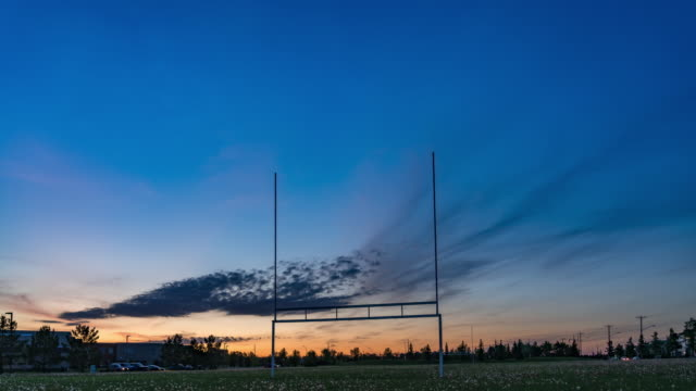 rugby stadium in sunset - rugby stock videos & royalty-free footage