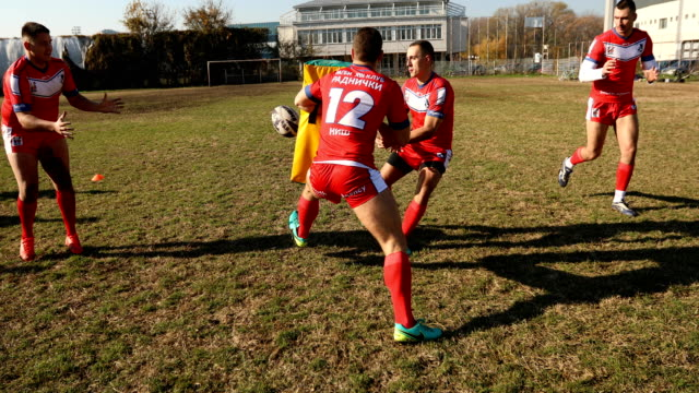 rugby team on training - matching outfits stock videos & royalty-free footage